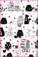 Pościel dla dzieci i niemowląt - Czarno białe kotki
