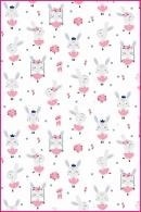 Pościel dla dzieci i niemowląt - Królik na huśtawce biały