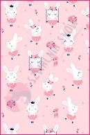 Pościel dla dzieci i niemowląt - Królik na huśtawce różowy