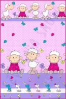 Pościel dla dzieci i niemowląt - Owce fioletowe