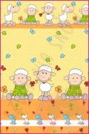 Pościel dla dzieci i niemowląt - Owce pomarańczowe
