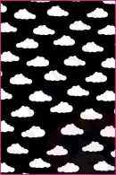 Pościel dla dzieci i niemowląt - Chmurki białe na czarnym