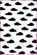 Pościel dla dzieci i niemowląt - Chmurki czarne na białym