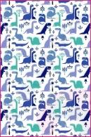 Pościel dla dzieci i niemowląt - Dinozaury niebieskie