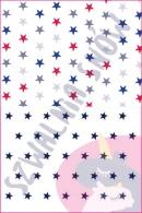 Pościel dla dzieci i niemowląt - Gwiazdki kolory MIX gwiazdki granat na białym