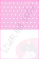Pościel dla dzieci i niemowląt - Gwiazdki białe na różu MIX biały