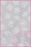 Pościel dla dzieci i niemowląt - Misie białe na szarym