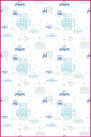 Pościel dla dzieci i niemowląt - Drobne niebieskie samochodziki