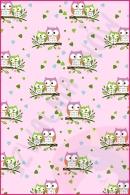 Pościel dla dzieci i niemowląt - Sowy małe różowe