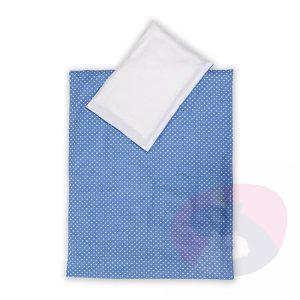 pościel dla dzieci grochy niebieski