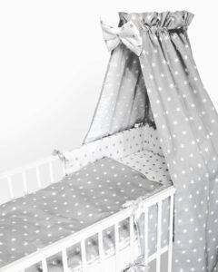 Wyprawka dla niemowlaka gwiazdki szary