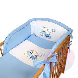 pościel haftowana dla dzieci niebieski