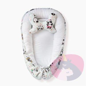 kokon dla niemowlaka pandy na mięcie