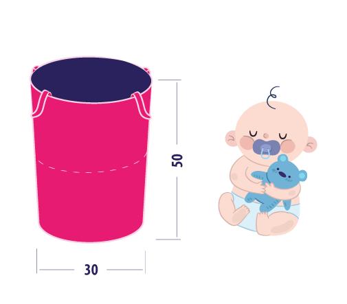 kosz na zabawki bieliznę ubranka dla dzieci