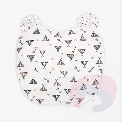 MIŚ – Poduszka dla niemowlaka z ozdobnymi uszami