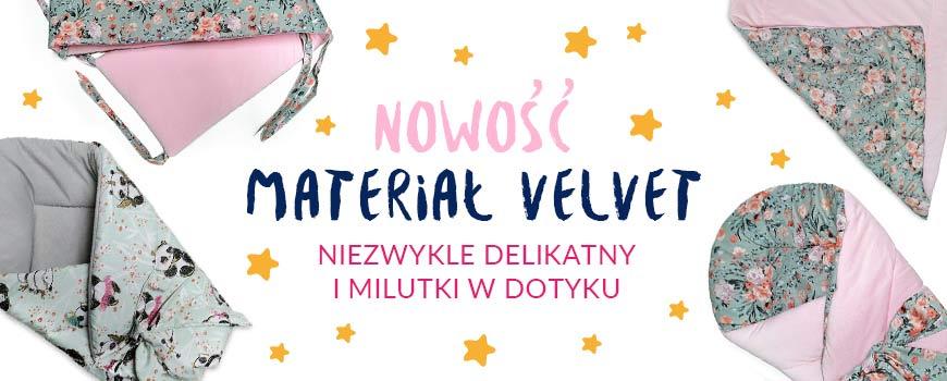 pościel dla dzieci materiał velvet