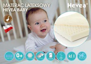 Materac lateksowy Hevea Baby bezpieczeństwo