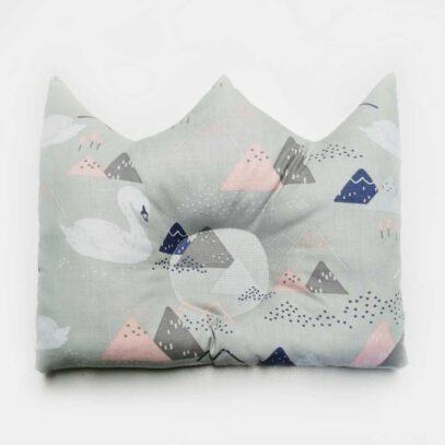 płaska poduszka dla niemowlaka korona